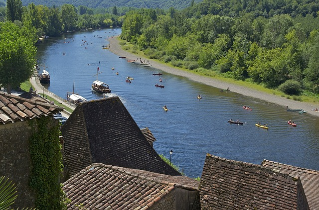 Free Photos: Dordogne france river water scenic boats canoes | David Mark