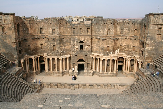 Free syria bosra amphitheater history historical