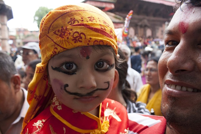 Free culture festival gai jatra nepal make up child