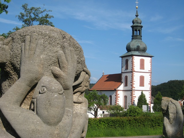 Free church sculpture monument stone
