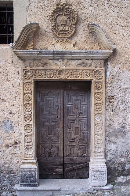 Free Photos: Old port portal wood door brown door | tatlin