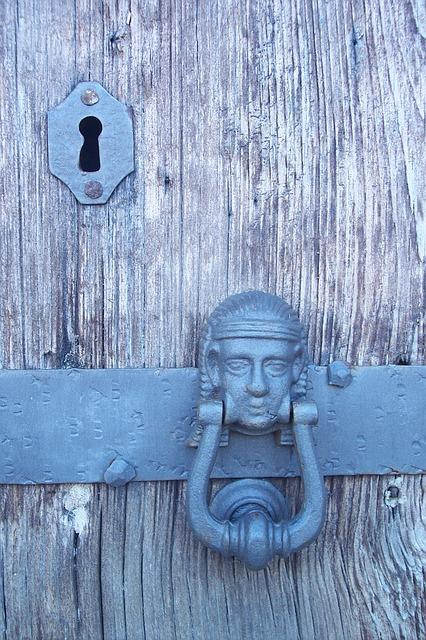 Free key key patch old port entry door rust keyhole