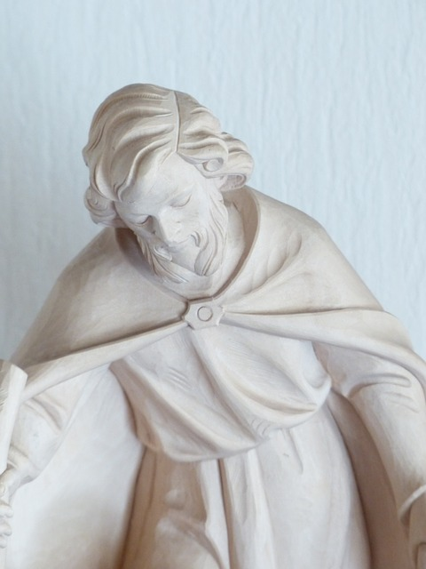 Free joseph sculpture carving wood carving handmade