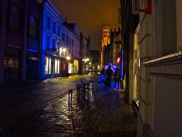 Free night mood illumination color creative city