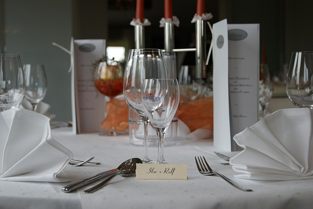 Free gastronomy hotel serving commercial glasses