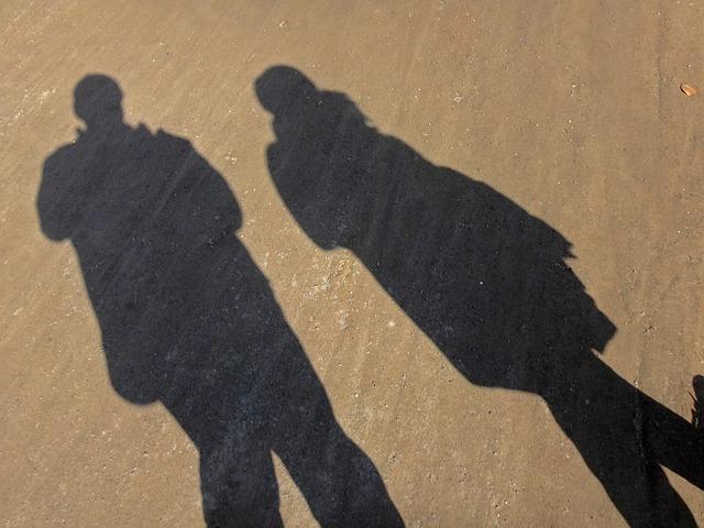 Free shadow abstract man woman pair