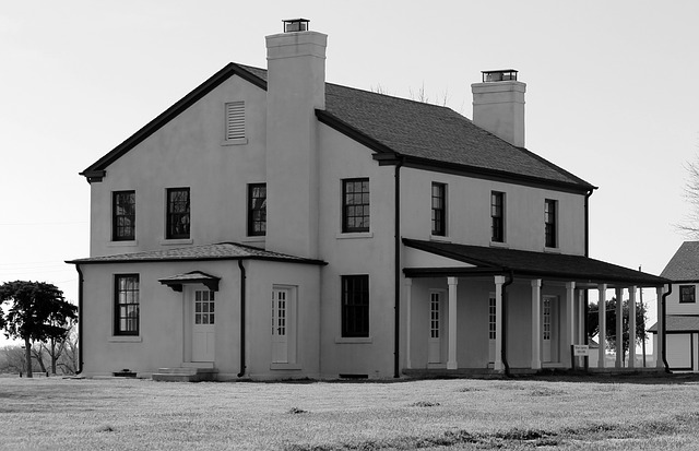 Free fort reno oklahoma building history black and white