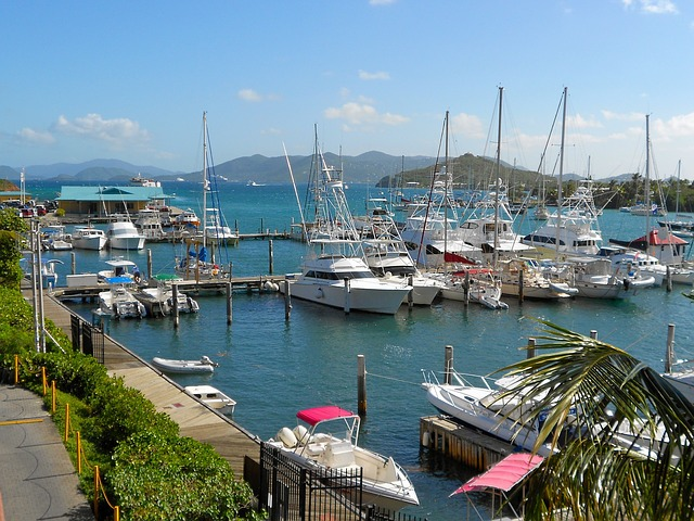 Free st thomas virgin island boats ships sky clouds