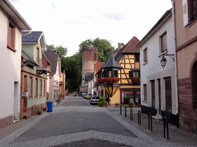 Free reichshoffen france town buildings architecture