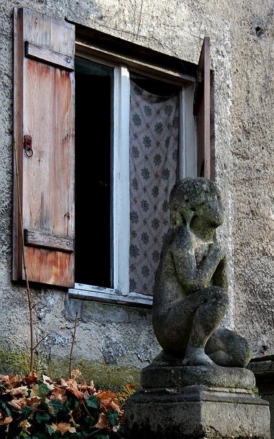 Free window statue cemetery munich angel curtain