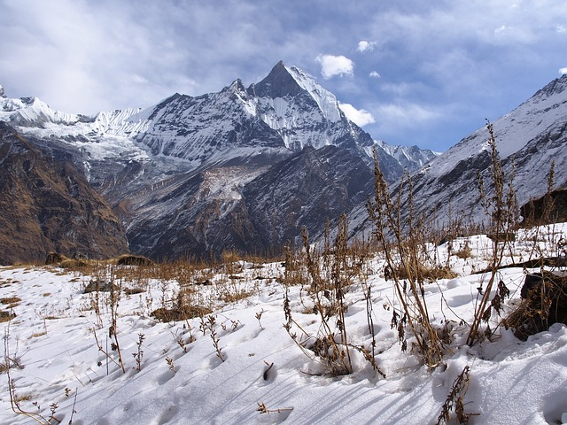 Free nepal basecamp himalayas mountains snow landscape
