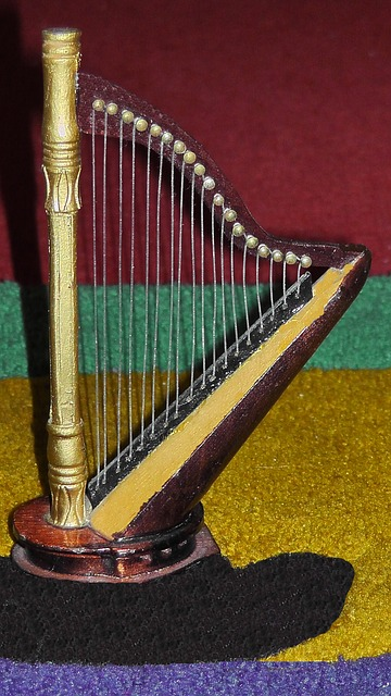 Free harp plucked string instrument fig music