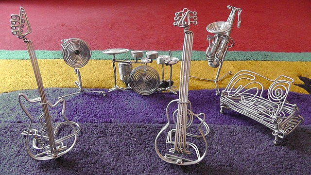 Free intruments decoration wire musical instruments