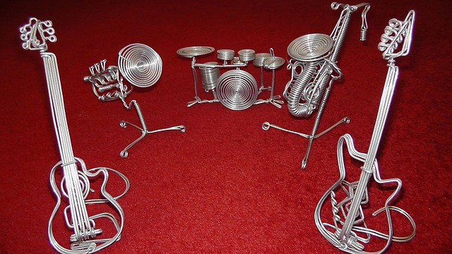 Free music band instruments wire instruments art