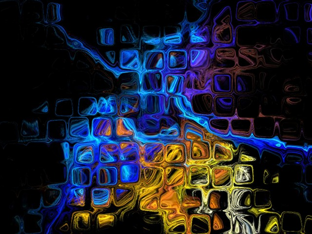 Free colorful fractal artwork waving wallpaper