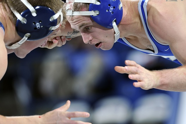 Free wrestling sports grappling grasping close-up macro