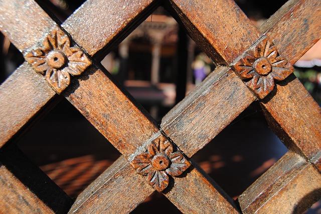 Free fence wood fence wood lattice abstract
