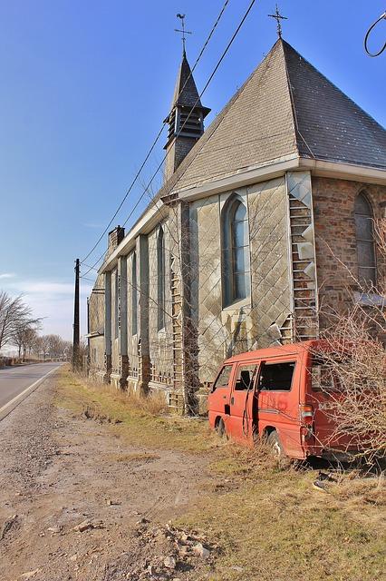 Free church ruin desert auto abandoned
