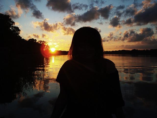 Free man person girl sunset water brandenburg gilbert