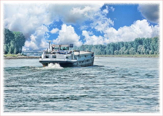 Free rhine ferry art paint digital art landscape ship