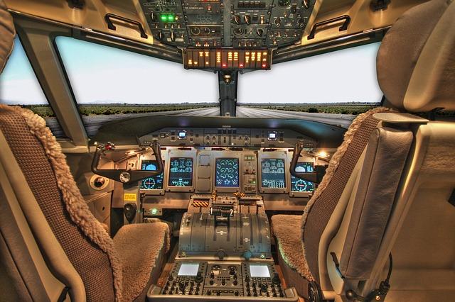 Free cockpit plane airplane jet passenger pilot seats