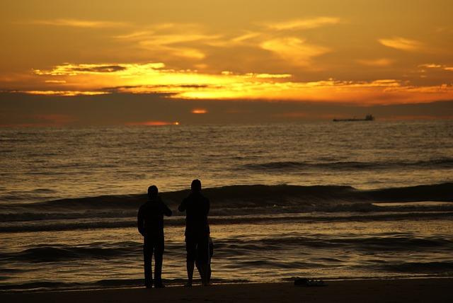Free Photos: Human beach sun sunset wave clouds light water | Holger Foerstemann
