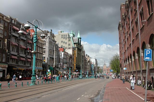 Free amsterdam holland netherlands city road