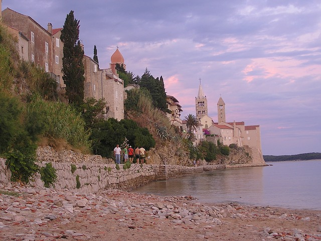 Free rab croatia sea ocean water bay buildings city