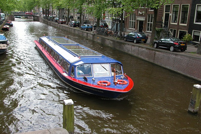 Free canal water channel amsterdam holland netherlands