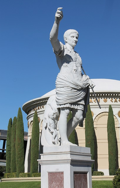 Free statue stone ceasar stone figure profile sculpture