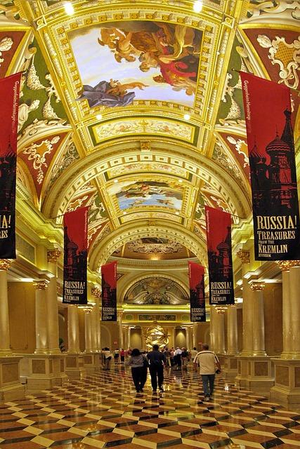 Free golden archway arcade artful passage interior