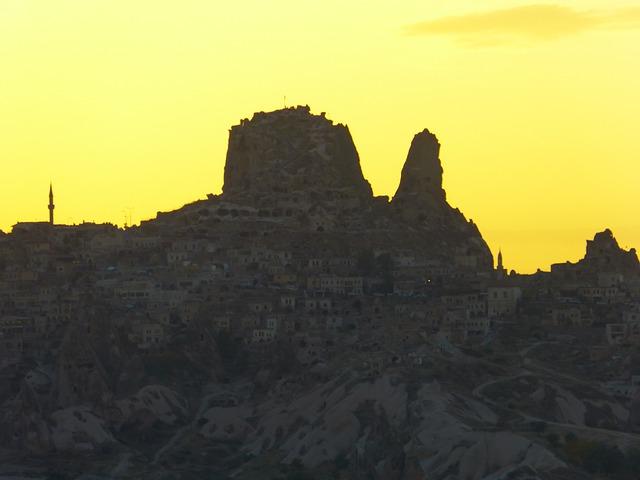 Free uchisar city mountain castle cappadocia nevşehir