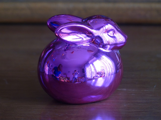 Free easter bunny hare easter glass purple violet