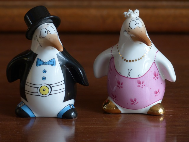 Free Photos: Penguin bride groom fig porcelain sound painted | Hans Braxmeier