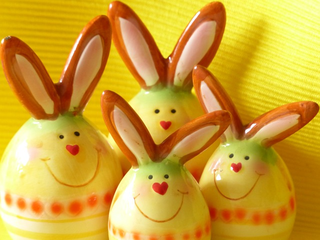 Free hare easter bunny fig porcelain sound colorful