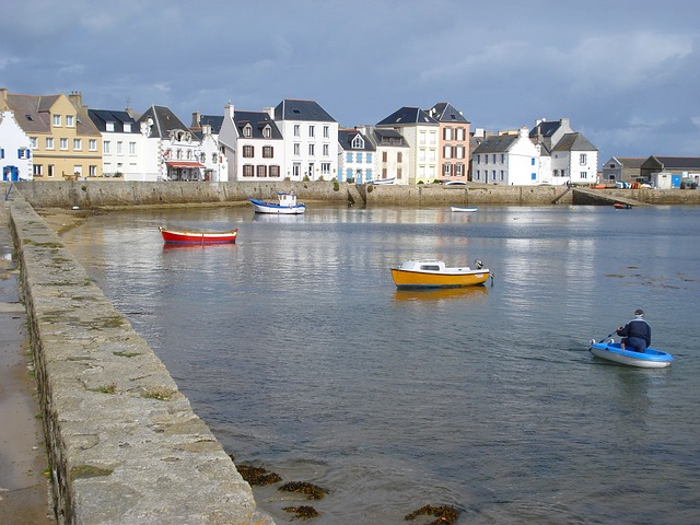 Free l'île de sein france bay harbor port water
