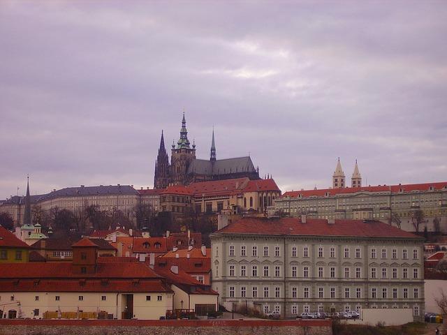 Free prague czech republic city urban buildings church