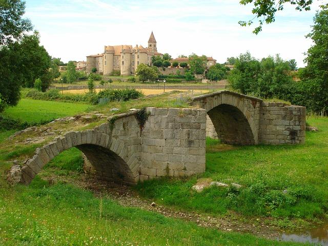 Free france palace bridge stone footbridge stream