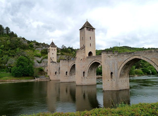 Free cahors france bridge sky clouds architecture