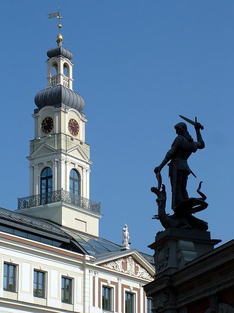 Free latvia riga building town hall
