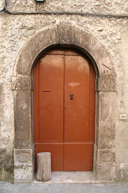 Free door portal entrance stone arch lintel