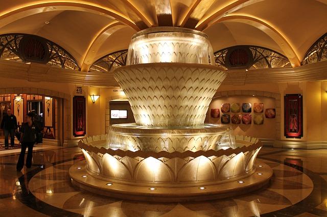 Free fountain light atrium light effect ornate