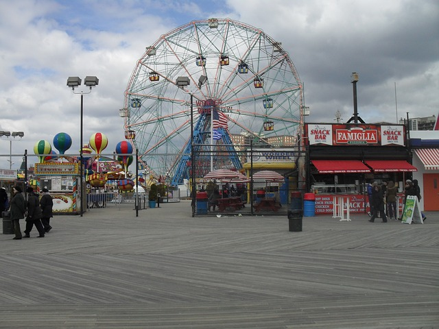 Free ferris wheel board walk wonder wheel amusement ride