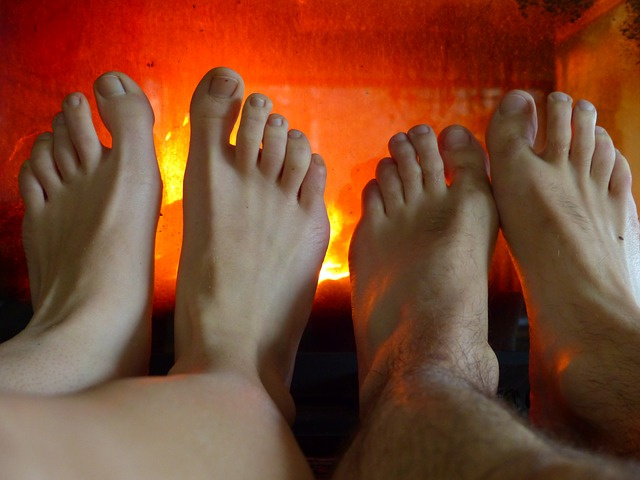 Free feet warm heat hot fire oven flame freeze
