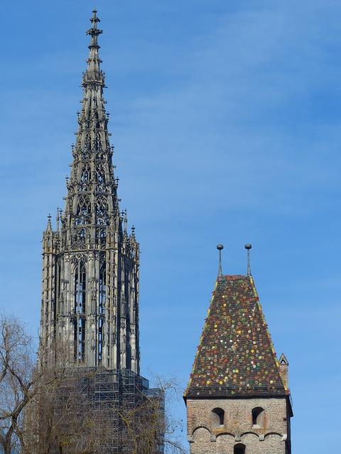 Free münster ulm cathedral tower steeple spire artwork