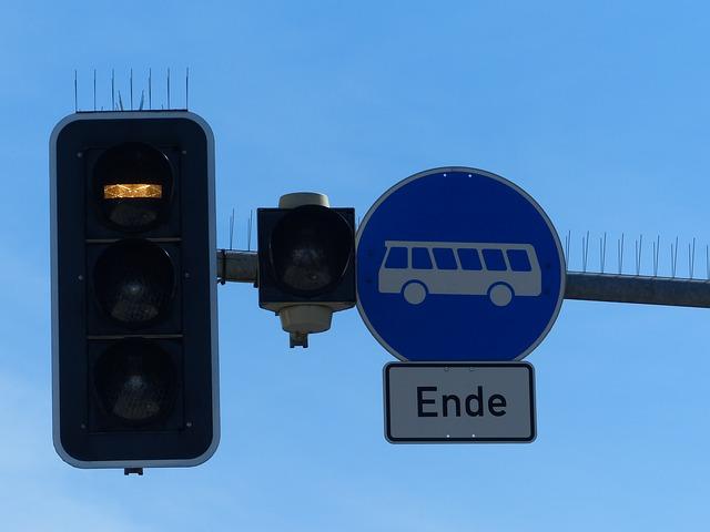Free traffic lights bus buses pave train tram