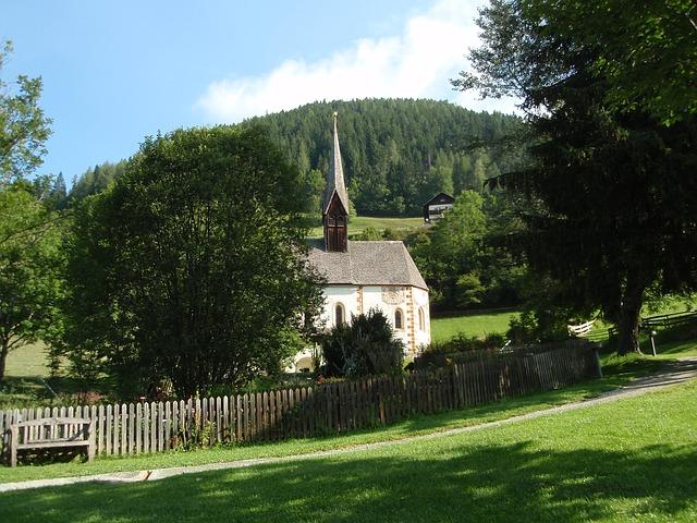 Free church chapel landscape austria carinthia