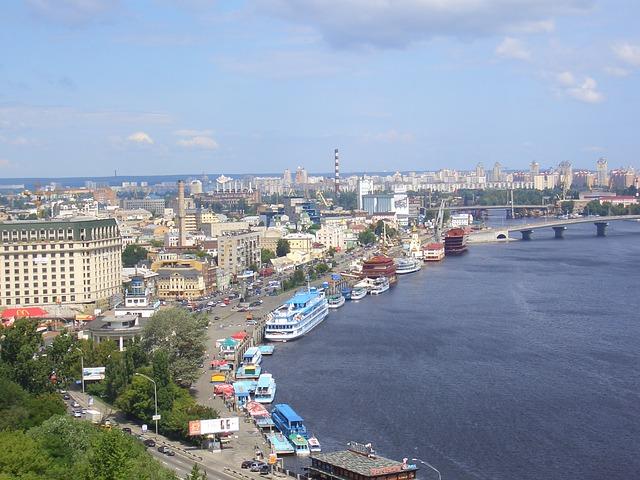 Free kiew landscape view city city view architecture