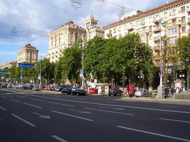Free kiew ukraine street street trading roadmap