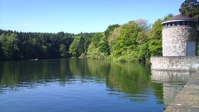 Free möhnesee lake sun nature landscape